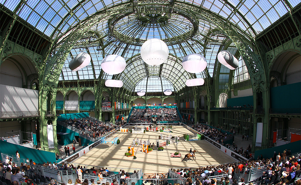 14/04/2013 GRAND PALAIS;PARIS PRIX JUMPING SAUT HERMES PARIS - GRAND PALAIS LES TALENTS HERMES ILLUSTRATION - VERRIERE - TERRAIN